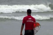 Primeiro dia de disputas da etapa final do Maresia Paulista de Surf Profissional 2015, em Guarujá