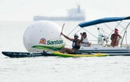 Canoísta da região garante a prata na prova individual no primeiro dia do Sul-Americano de Va'a, em Santos